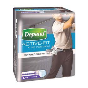 תחתונים סופגים Active-Fit לגברים, מידה L