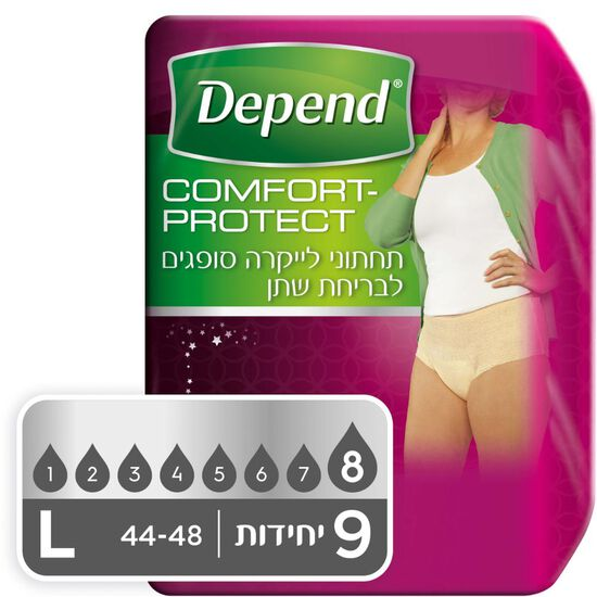 תחתונים סופגים Comfort Protect  לנשים, מידה L